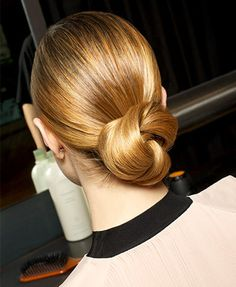 chignon bun - perfect for dressy occasions or the office