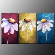 Image result for white daisy flower painted on wood