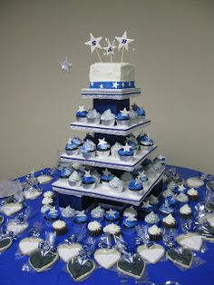 Dancing under the stars sweet fifteen theme quinceanera for Midnight blue centerpieces