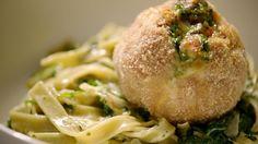 Gevulde gehaktballen met pasta verde | Dagelijkse kost