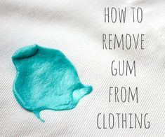 gum removal How to Remove Gum From Clothes: Kids will be kids! Even though mine are not allowed to chew gum, that did not stop my not-quite-youngest from getting gum on his NEW karate unif Remove Gum From Carpet, Remove Gum From Clothes, Chewing Gum, How Do You Remove, How To Make, Buble Gum, Gum Removal, Save For House, Cleaning Painted Walls
