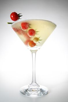 Made with ripe summer tomatoes, garlic, jalapeño, basil, and vodka. A refreshing twist on the classic dirty martini! #drink #recipe #cocktail sounds great, but takes time and forethought...