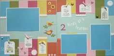 Stamp With Sandy, For the Birds Scrapbook Pages 12x12 Stampin Up