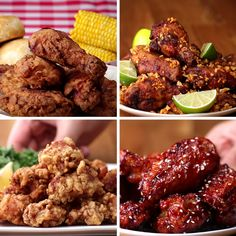 Featuring Japanese Popcorn Chicken (Karaage), Brazilian Chicken Wings (Frango À Passarinho), fried chicken Buttermilk-fried Chicken and Spicy Korean Chicken Buttermilk Fried Chicken, Fried Chicken Recipes, Fried Chicken Marinade, Kfc Chicken Recipe, Spicy Korean Chicken, How To Fry Chicken, Japanese Chicken, Yummy Food, Tasty