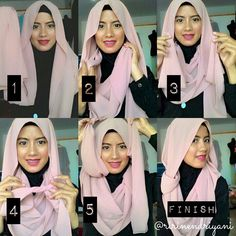 This is a quick easy and beautiful hijab look, it doesn't require any pins, it is simple tied in the back and beautifully layered with its loose style. With no further, here are the steps to follow: 1. Place the…