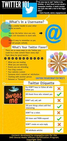 Twitter 101 #infografia #infographic #SocialMedia