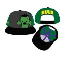 78771c966d0 Amazon.com  Marvel Kawaii The Hulk Bioworld Pop Heroes Snapback Cap Hat ( Green Grey Black)  Clothing
