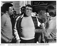 Actors Paul Winfield, Anthony Quinn and Gary Lockwood on set of the movie 'R.P.M.' in 1970.