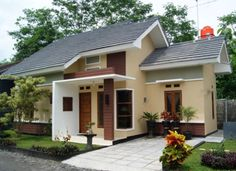 70 Examples of Simple House Models that Look Luxurious and Modern - Home Design Minimalist Small House Design, Modern House Design, Modern Minimalist House, Kerala Houses, House Elevation, House Windows, Build Your Dream Home, Model Homes, Ideal Home