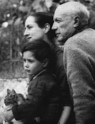 Pablo Picasso and family