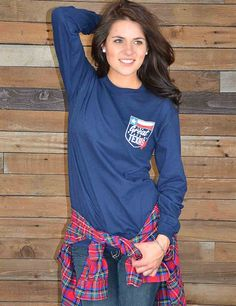 Let everyone know that you were made in t=The Great State of Texas with this sweet new pigment died long sleeve tee! Perfect for crazy Texas weather.