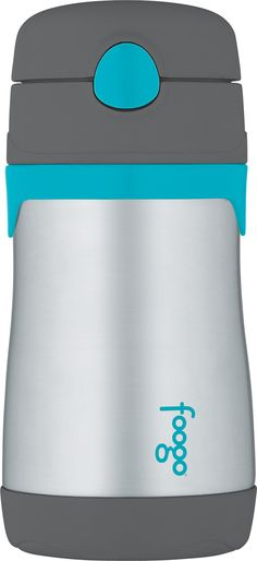 Amazon.com : THERMOS FOOGO Vacuum Insulated Stainless Steel 10-Ounce Straw Bottle, Pink/Purple : Baby Drinkware : Baby