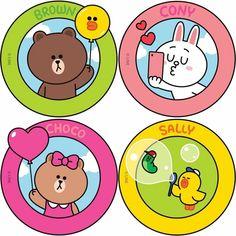 Line Friends Cony Brown, Friends Wallpaper, Line Friends, Cute Cards, Cute Wallpapers, Stickers, Iphone Wallpaper, Doodles, Kawaii