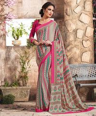 Multi Color Crepe Casual Function Sarees : Karnika Collection  YF-40734