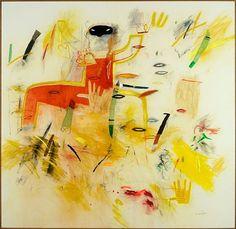 D. Nalin:The Japanese gardens. Acrilic on canvas. cm160x160, 1989. Lot 151-6321 #pastel #acrylic #pencil #art