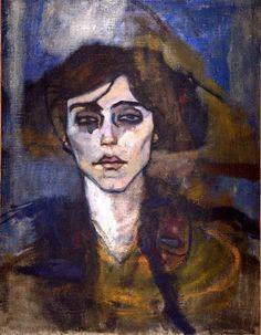 """colin-vian:  """" Amedeo Modigliani, Maude Abrantes, 1907  """""""