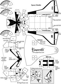 Space Shuttle - Paper Cutouts