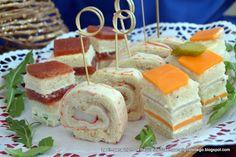 Comparte Recetas - Canapés frios y variados con pan de molde