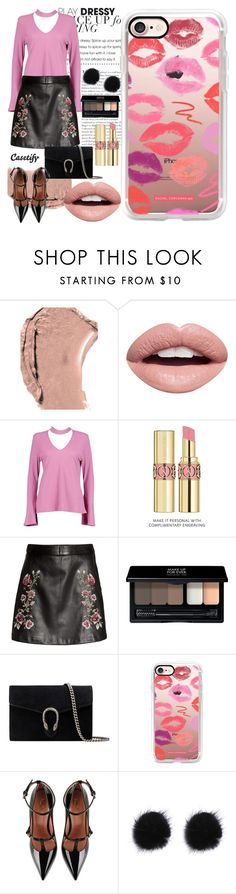 """""""Kiss Me 💋"""" by casetify ❤ liked on Polyvore featuring Dolce&Gabbana, Nevermind, Boohoo, Yves Saint Laurent, MAKE UP FOR EVER, Gucci, Casetify and RED Valentino"""