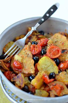 Stufato di Seitan con olive e patate
