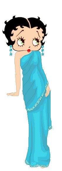 Gorgeous Betty in a blue gown #bettyboop #illustration ✿⊱╮