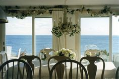 Eat breakfast overlooking the water at A Beach House Oceanfront B in Plymouth, Massachusetts