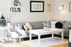Como decorar un salón acogedor, bonito y romántico nórdico en BLANCO