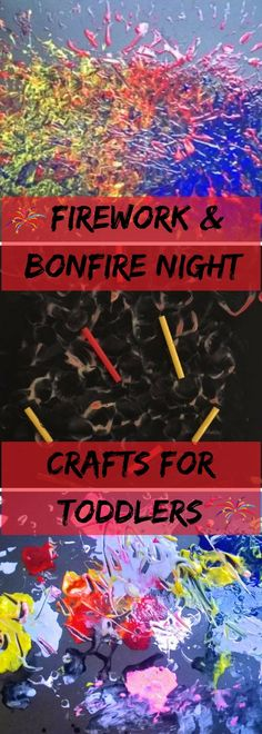 Firework & Bonfire Night Crafts for Toddlers Bonfire Crafts For Kids, Bonfire Night Crafts, Fireworks Craft For Kids, Fireworks Art, Easy Fall Crafts, Crafts To Do, Diy Crafts For Kids, Art For Kids, Craft Ideas