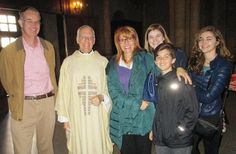 Fr. Steve with the Mol Family following Easter Sunday Mass