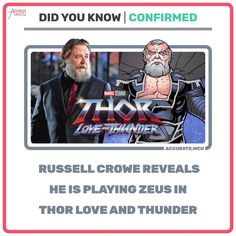 Marvel News, Russell Crowe, Do You Know Me, Thor