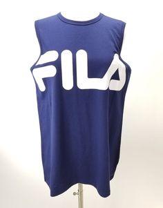 FILA Training Sleeveless Tank Womens Size Large Navy Blue White Logo NWOT   FILA  womensstyle  womenswear  womensapparel  style  fashion  apparel   goals ... 283248720b6f9