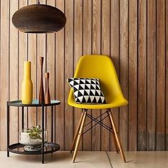 Chris Everard shoots John Lewis Home Book Yellow Interior, Interior Paint Colors, Interior Painting, John Lewis Home, Ikea High Chair, Plastic Dining Chairs, Interior Minimalista, Charles Eames, Eames Chairs