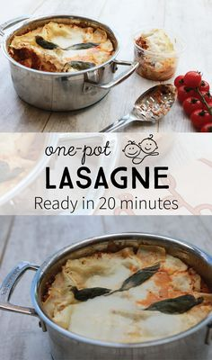 Are you looking for a quite meal that will taste like you spent hours in the kitchen? Try my One Pot Lasagne! It's a quick, easy, and healthy way to make the well-loved comfort food on a busy weeknight. Easy Family Meals, Family Recipes, Quick Easy Meals, One Pot, Recipe Ideas, Dinner Ideas, Recipies, Cooking Recipes