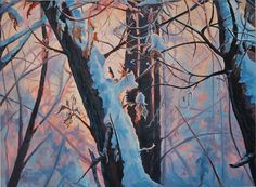 """18"""" x 24"""" Back yard sunset. Phone 780-624-8056 $595.00 includes shipping. Winter Landscape, My Arts, Backyard, Sunset, Floral, Landscapes, Painting, Phone, Florals"""