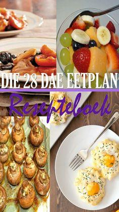 Beskrywing 'n Versameling van 80+ resepte wat op die #28daeeetplan gebaseer is. Die #resepte is smaaklik genoeg sodat die hele gesin dit kan geniet, nie net die lede wat op die plan is nie. Sagteband. A5 Grootte. (Let wel: Hierdie is 'n resepteboek, nie 'n dieetboek nie.)  Prys R180  Taal Beskikbaar in Afrikaans of Engels Crockpot Recipes, Diet Recipes, Recipies, 28 Dae Dieet, Dieet Plan, Healthy Snacks, Healthy Eating, 28 Days, Banting