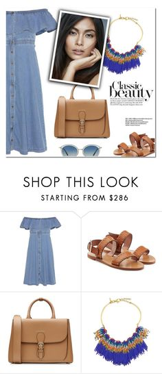 """""""Classic Beauty"""" by christinacastro830 ❤ liked on Polyvore featuring Tommy Hilfiger, RED Valentino, Burberry, Lele Sadoughi and Oliver Peoples"""