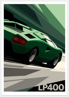 Lamborghini Countach print by Guy Allen - www.guyallen.co.uk
