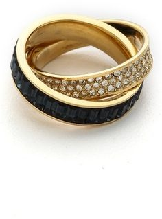 ffce4dd26336 Michael Kors Pave   Baguette Crossover Ring on shopstyle.com