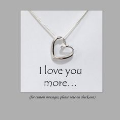 Sterling Silver Heart Necklace, Silver Heart Necklace, Bridesmaid Necklace, Gift for Her, Girlfriend Gift, Gift for Wife, Valentines Gift