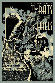 """Today we're looking at """"The Cover for """"Rats in the Walls,"""" written in and first published in the March 1924 issue of Weird Tales .Art by M. Necronomicon Lovecraft, Lovecraft Cthulhu, Hp Lovecraft, Yog Sothoth, Call Of Cthulhu Rpg, Lovecraftian Horror, Pulp, Vintage Comics, Horror Art"""