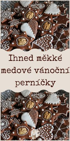 Ihned měkké medové vánoční perníčky Easy Cake Recipes, Cookie Recipes, Czech Recipes, Food Hacks, Gingerbread, Cheesecake, Food And Drink, Sweets, Cookies