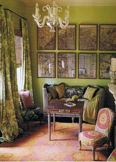 New Orleans home Debra Shriver. Interior Design Hal Williamson. House Beautiful Oct 2008. Photography John Kernick