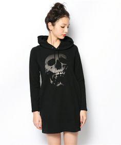 Skull Hooded Sweater Dress