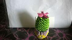 origami 3d cactus. Una piantina giusto per festeggiare la bella stagione e la forza di resistere alle condizioni avverse!!