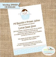 Baptism Angel boy invitation by Mimorusa on Etsy Baptism Party, Boy Baptism, Baptism Ideas, Baptism Invitation For Boys, Baptism Invitations, Party Printables, Card Making, Paper, Cards