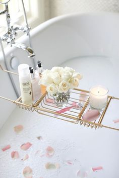 Take a bath before bed for a healthy sleep. Tips from ettitude.com.au        Pink Peonies by Rach Parcell - A Personal Style, Beauty & Home Blog