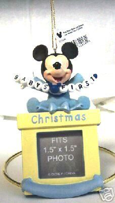 Walt Disney Parks And Resorts Disney Mickey Mouse Baby Boy First Christmas Photo Ornament New . inches x inches max dimensions Fits x inches photo Disney Christmas Ornaments, Christmas Decorations, Holiday Decor, Baby Mickey, Disney Mickey Mouse, Walt Disney Parks, First Christmas Photos, Disney Movies To Watch, Rock A Bye Baby