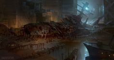 The Post-Apocalyptic Picture Thread Post Apocalyptic Movies, Bg Design, Nickelodeon Cartoons, Hidden Places, Post Apocalypse, Fantasy Landscape, End Of The World, Fantasy World, Concept Art