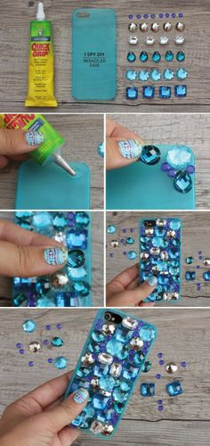 DIY BEDAZZLED PHONE CASE