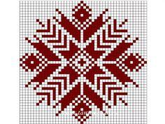 Bilderesultat for fair isle knitting patterns free Cross Stitching, Cross Stitch Embroidery, Embroidery Patterns, Cross Stitch Patterns, Fair Isle Knitting Patterns, Knitting Charts, Tapestry Crochet, Crochet Chart, Cross Stitch Flowers